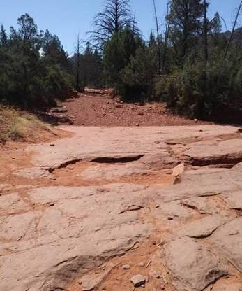 At Cathedral Rock Trailhood, Sedona, AZ