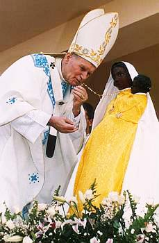 Pope with Black Madonna