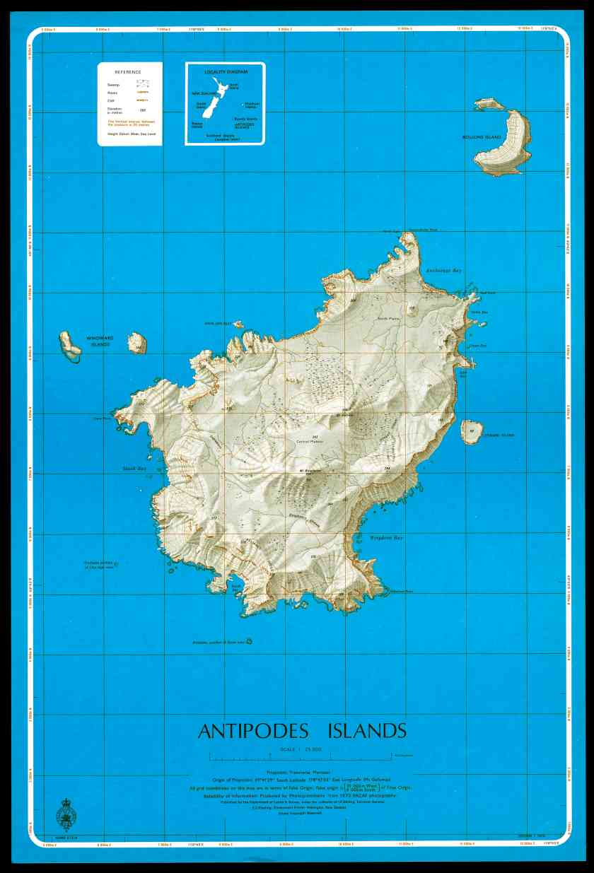 Antipodes Islands Map