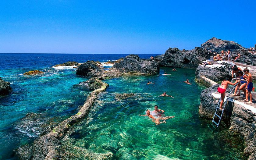 Natural swimming pool, Garachico, Tenerife, Canary Islands, Spain