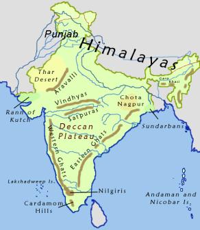Deccan Plateau Map