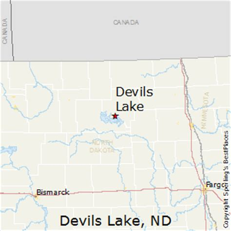 Devil's Lake, ND Map
