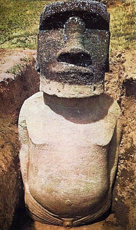 Easter Island Moai body