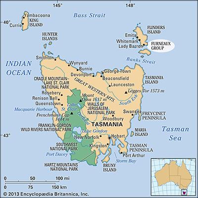 Flinders Island Map