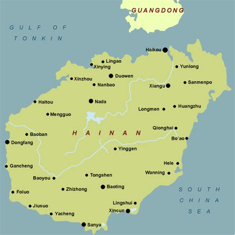 Hainan, China Map