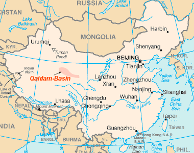 Qaidam Basin Map