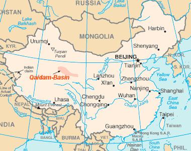 Qaidam Basin Map