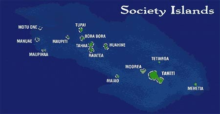 Society Islands Map