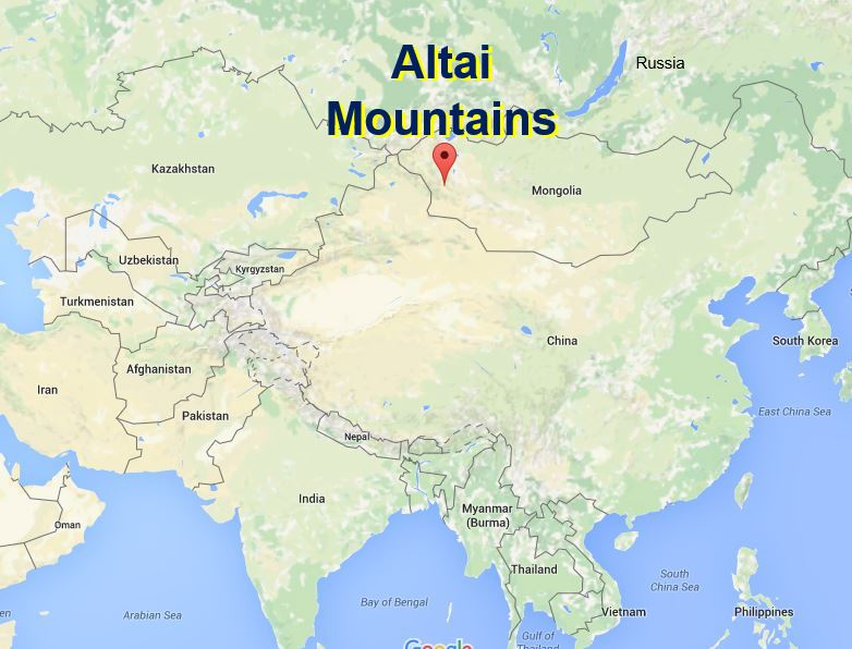 Altai Mountains Map