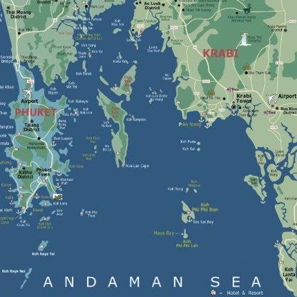 Andaman Sea Map