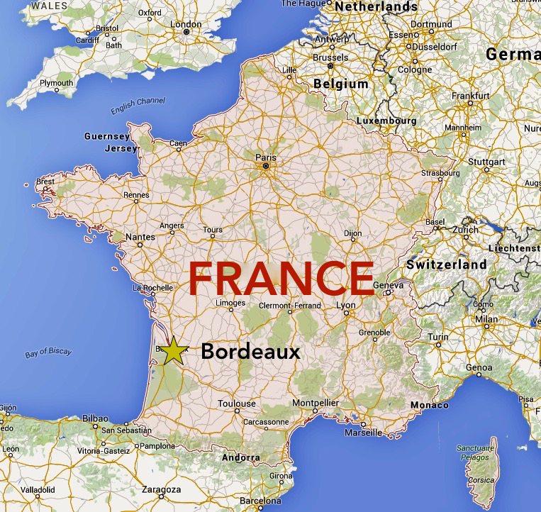 Bordeaux France Map