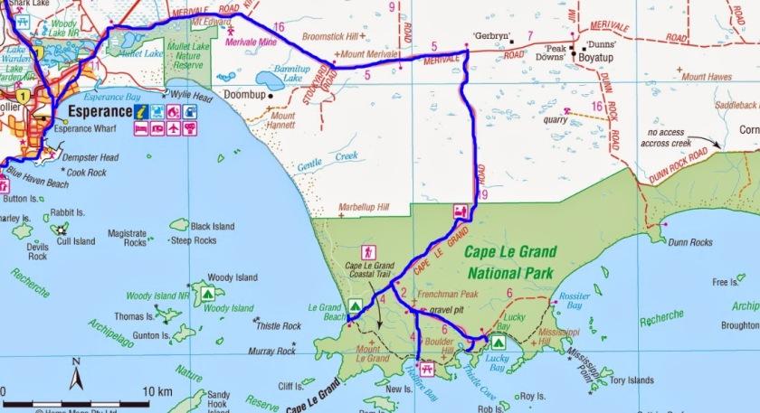 Cape Le Grand Map