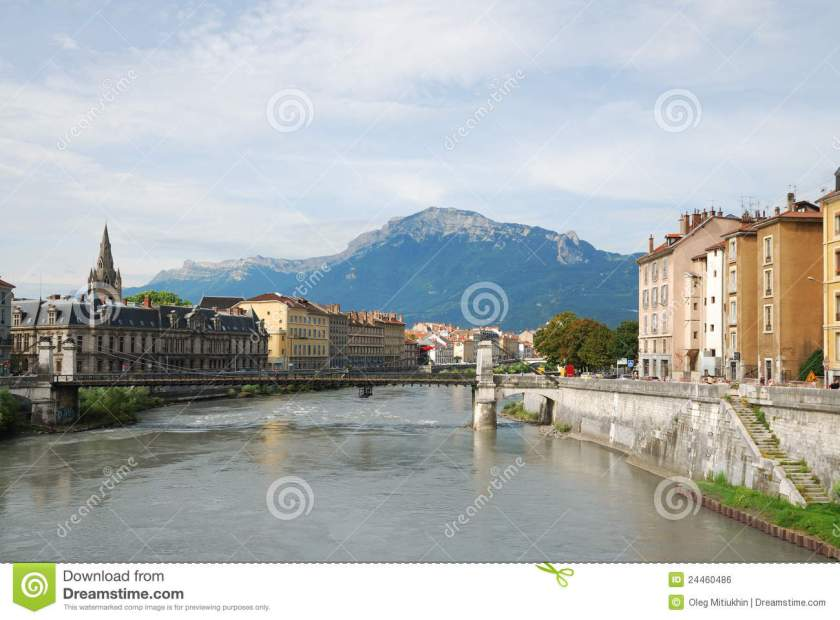 Grenoble River Isere