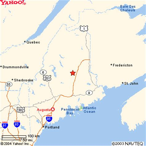 Mt. Katahdin Maine Map