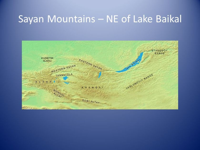 Sayan Mountains – NE of Lake Baikal