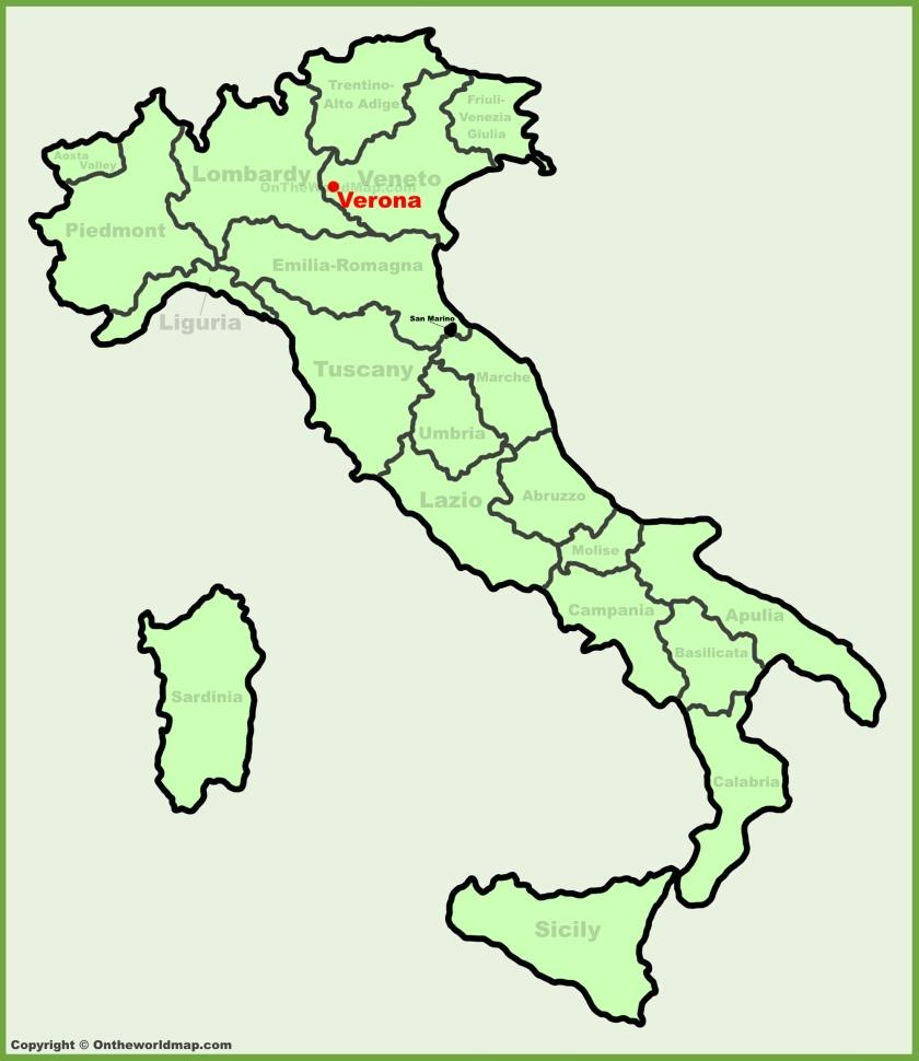 Verona, Italy Map