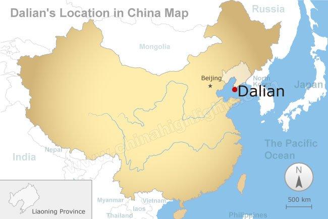 Dalian map