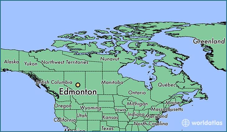 Edmonton, Alberta Map