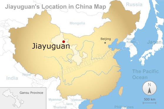 Jiayuquan Map