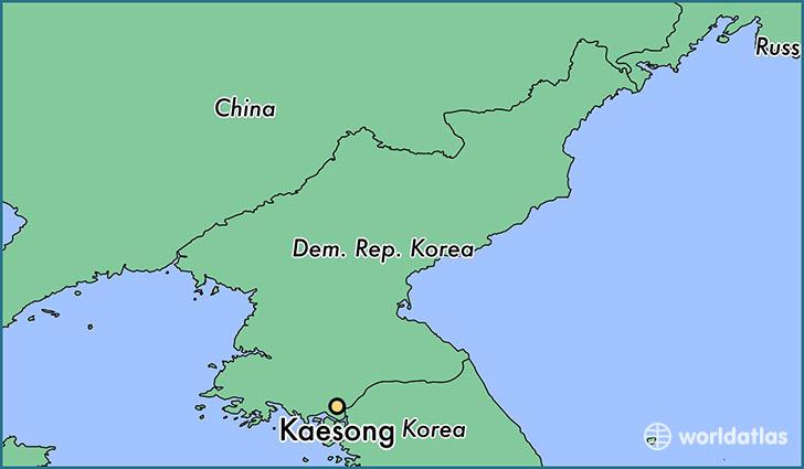 Kaesong, North Korea Map