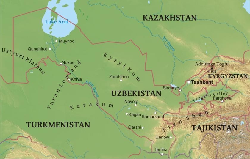 Kyzyl-kum Map