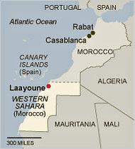 Laayoune, Morocco map