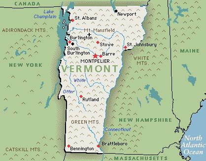 Montpelier, Vermont map