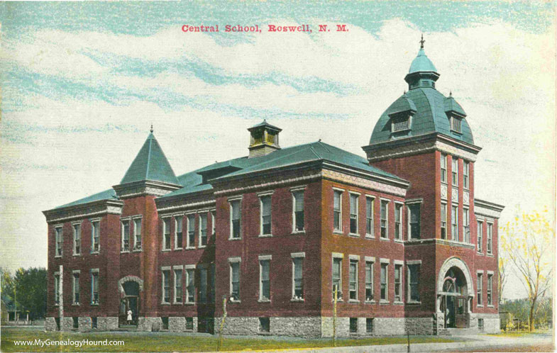 Roswell-New-Mexico-Central-School-vintage-postcard-photo
