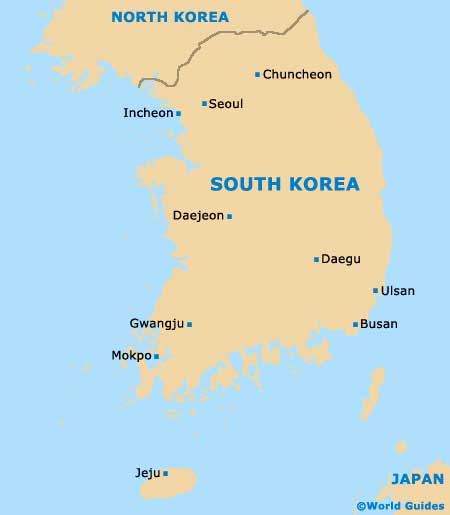 Seoul, South Korea Map