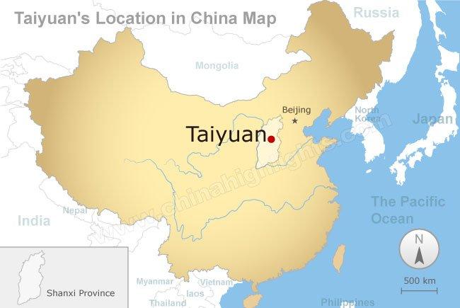 Taiyuan, China Map