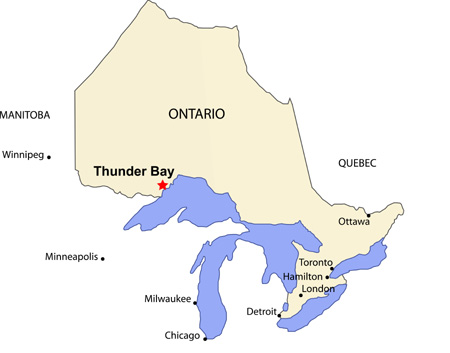 Thunder Bay Ontario Map