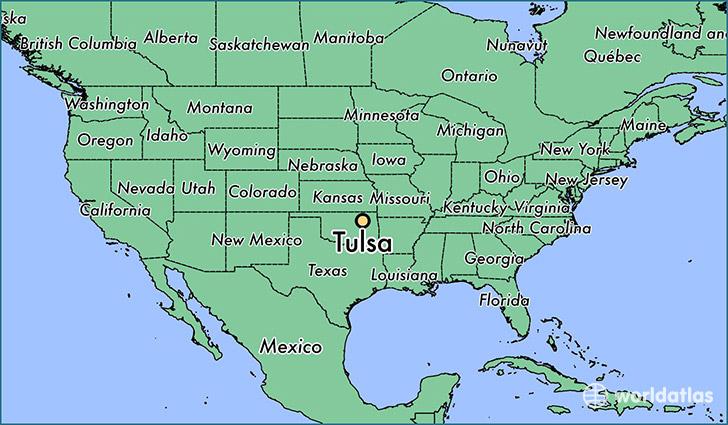 Tulsa, Oklahoma Map