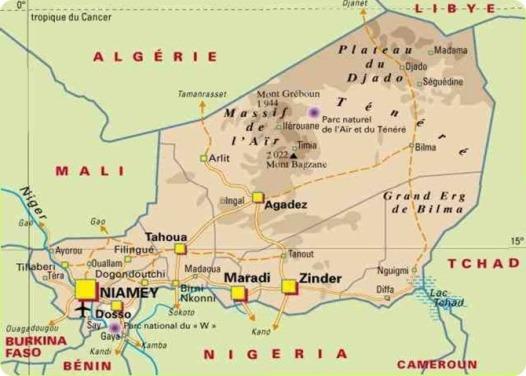 Bilma, Niger map