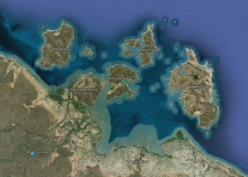 Gulf of Carpentaria - Pellew Islands