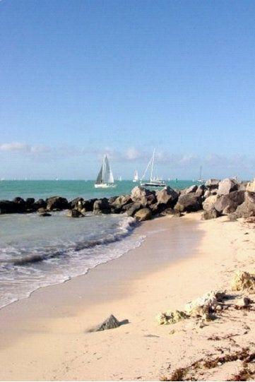 Key West, FL - Beach Boulders