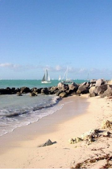 Key West, FL - Beach Boulders