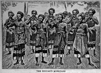 Maldives - Sultan's Musicians in 1885