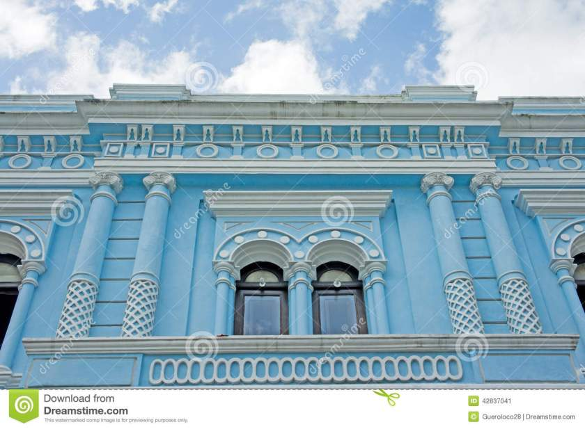 Merida, Mexico - Historic Blue Building