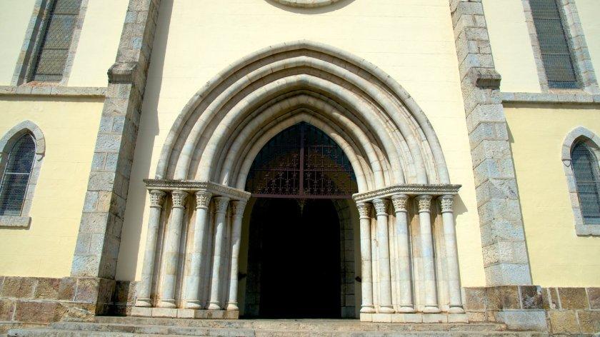 New Caledonaia - Noumea Cathedral Entryway