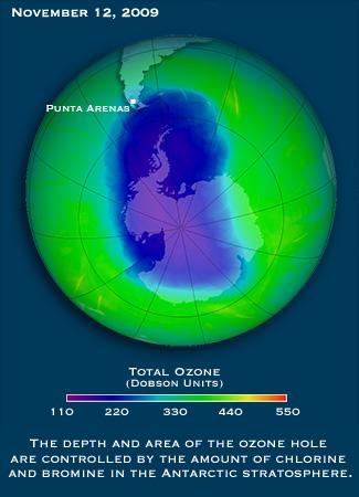 Punta Arenas, Chile - Ozone Hole