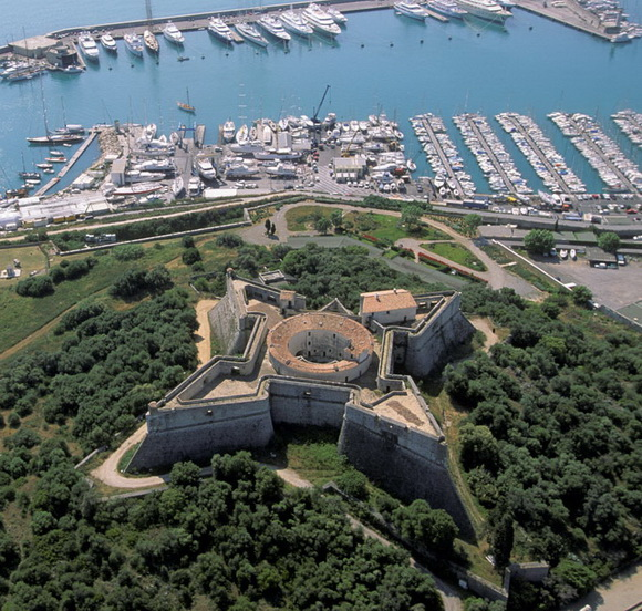 Fort carré d'Antibes, Alpes-Maritimes.