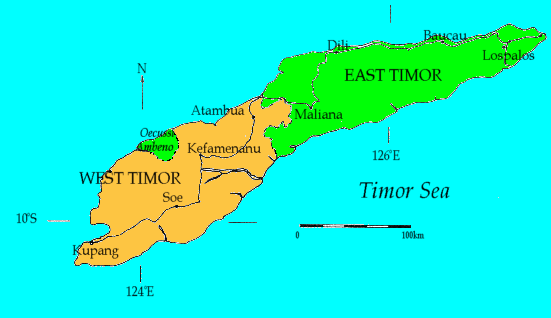 West Timor Map