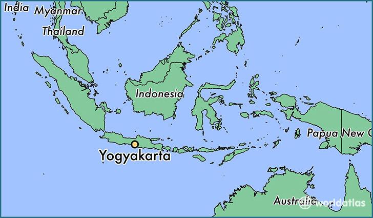 Yogyakarta, Indonesia Map