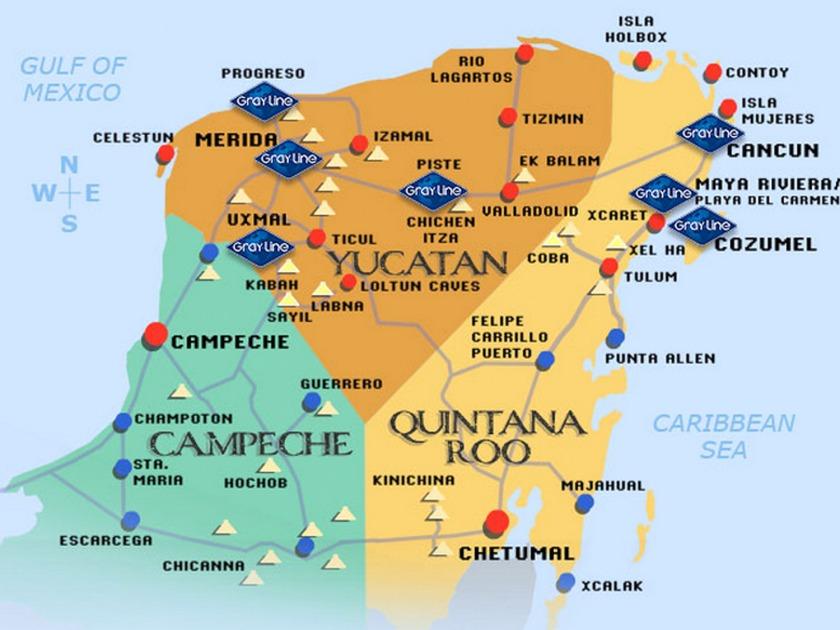 Yucatan map 2