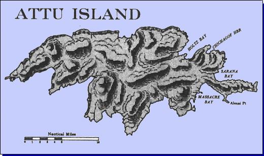 Attu Island map