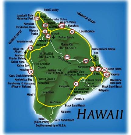 Hawaii Big Island map