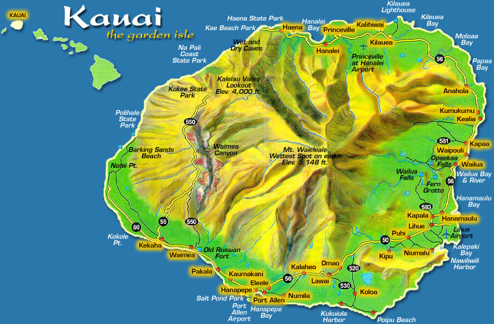 Kauai Map