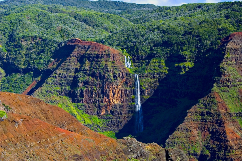 Waterfall In Waimea Canyon - Kauai, Hawaii
