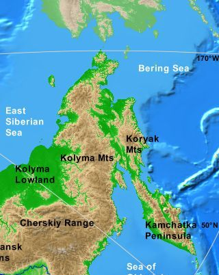 Koryak Mountains map