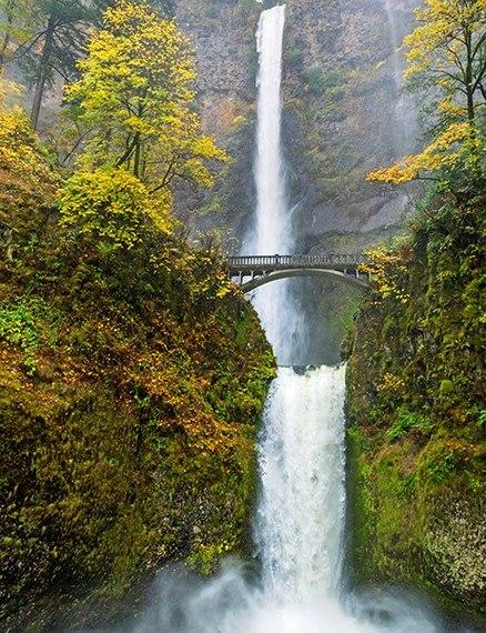 Maui - Multnomah Falls comparison